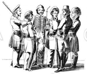 Leipziger Studenten um 1820—1830