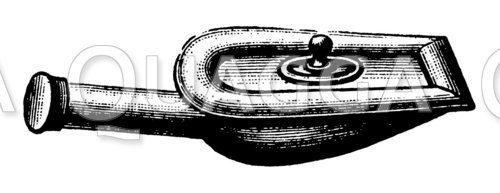 Steckbecken mit Gummirand und verschraubbarem Deckel