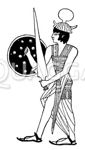 Sardischer Krieger aus der Zeit Ramses II