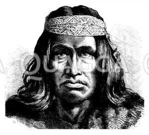 Häuptling patagonischer Indianer