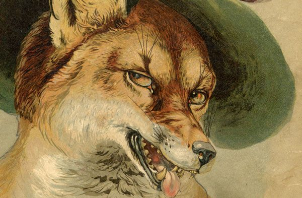 Fuchs als Jäger, Detail