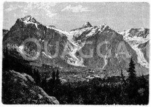 Wetterhorn mit beiden Grindelwald-Gletschern