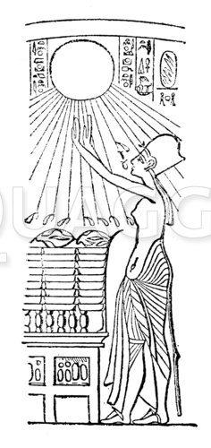 Ägyptische Sonnenanbeterin
