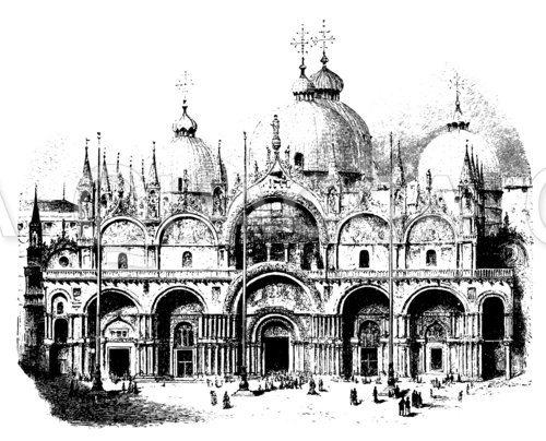 Fassade der Markuskirche in Venedig
