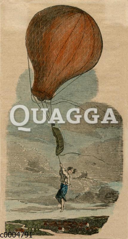 Junge von Heißluftballon fortgetrieben