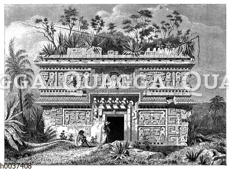Tempelruine zu Uxmal in Yukatan