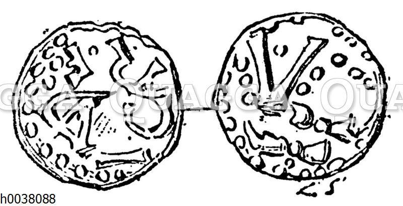 Münze Karl Martells