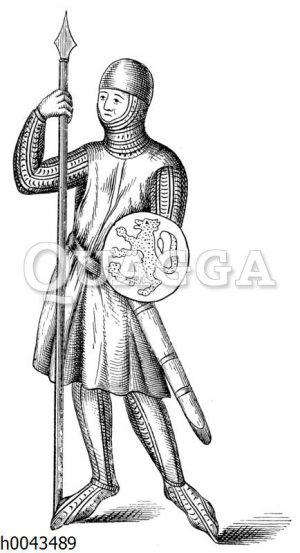 Spießträger mit Faustschild um 1294