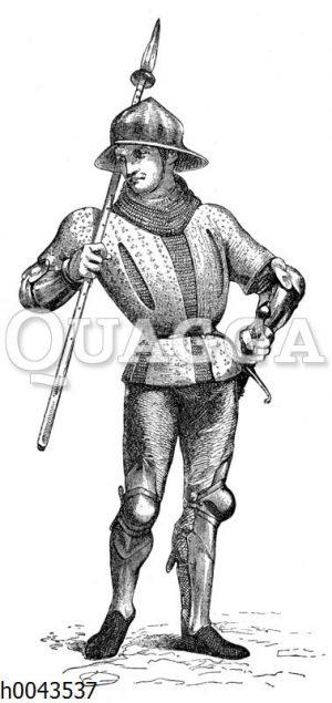 Burgundischer Krieger um 1440