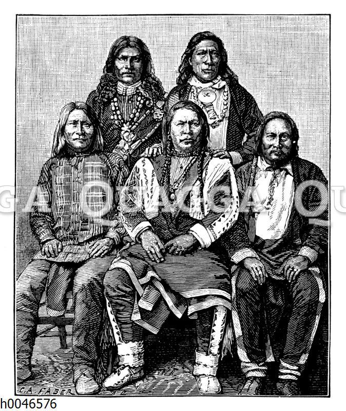 Ute-Indianer-Häuptlinge