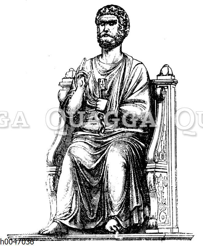 Standbild des hl. Petrus in der St. Peterskirche in Rom