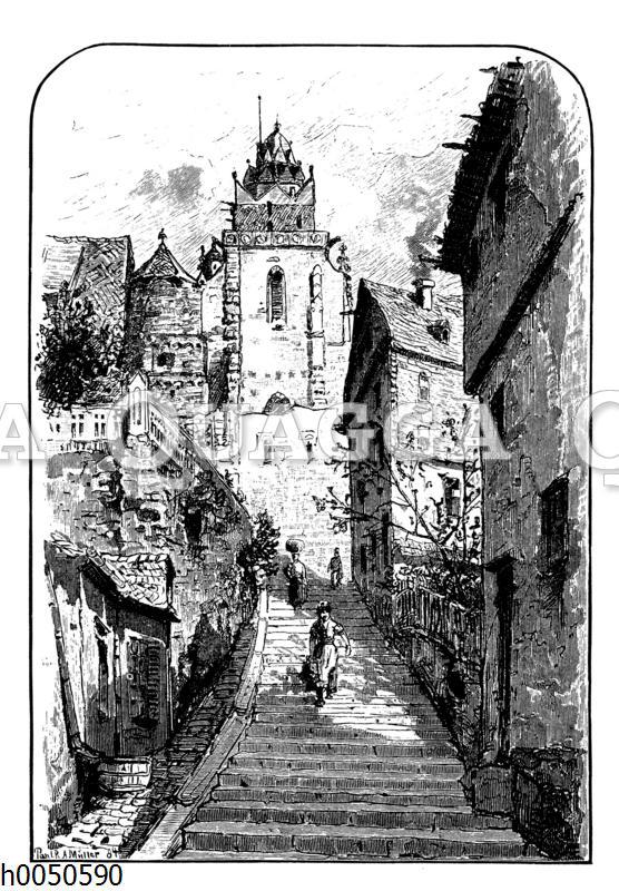 Treppe zum Dom in Wetzlar