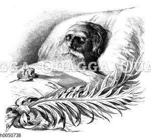 Turgenjew auf dem Sterbebett