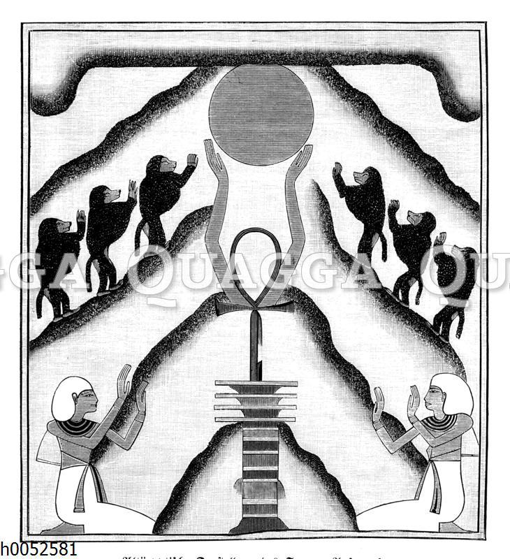 Sonnenaufgang. Altägyptische Darstellung