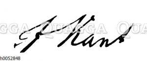 Immanuel Kant: Autograph