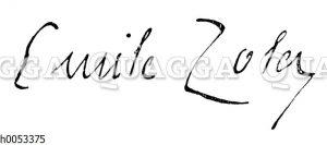 Emile Zola: Autograph