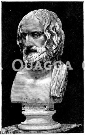 Euripides. Marmorbüste im Museum zu Neapel