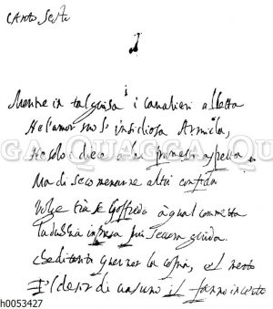Torquato Tasso: Autograph