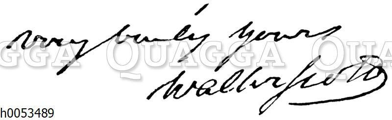 Autograph Walter Scotts