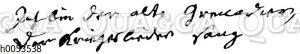Johann Wilhelm Ludwig Gleim: Autograph