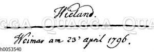 Unterschrift Wielands