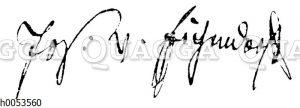 Joseph von Eichendorf: Autograph