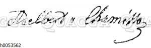 Adelbert von Chamisso: Autograph