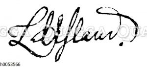 Ludwig Uhland. Autograph
