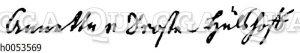 A. v. Droste-Hülshoffs Unterschrift