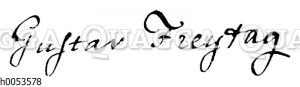 Gustav Freytag: Autograph