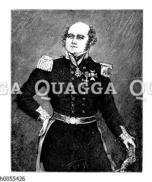 Sir John Franklin. Porträt.