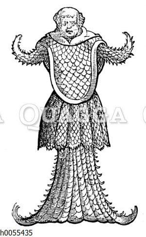 """Meer-Mönch. Nach Gesners """"Fischbuch"""" vom Jahre 1598"""