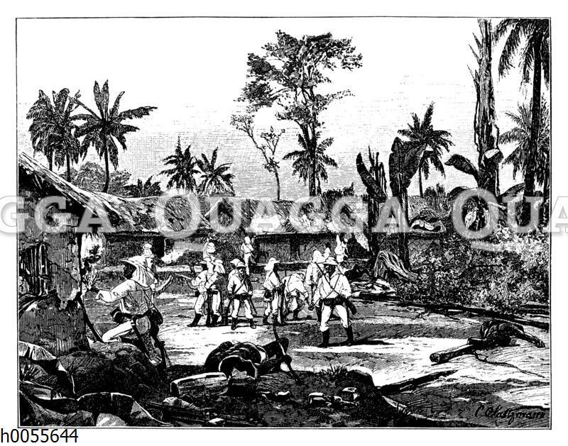 Die Zerstörung von Foßtown am 20. Dezember 1884