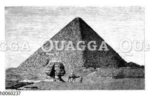 Cheopspyramide und große Sphinx