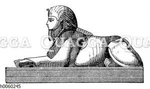 Sphinx mit dem Kopf eines Manne