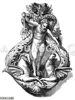 Türklopfer (Neptun am Palast Trevisan in Venedig)