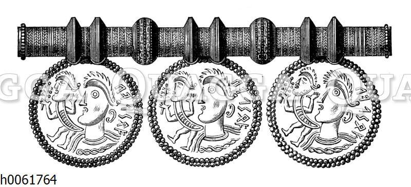 Runen-Schmuckstück in Gold aus heidnischer Zeit