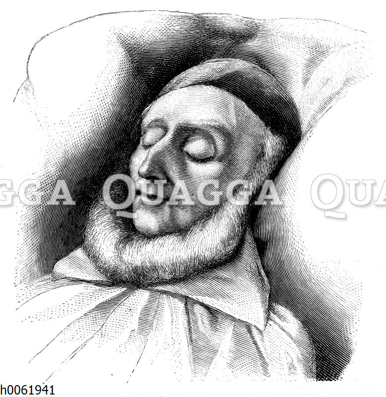 August Wilhelm von Schlegelauf dem Totenbett
