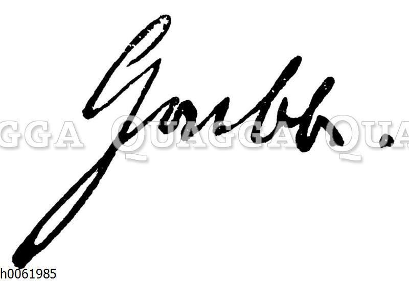 Christian Dietrich Grabbe: Autograph