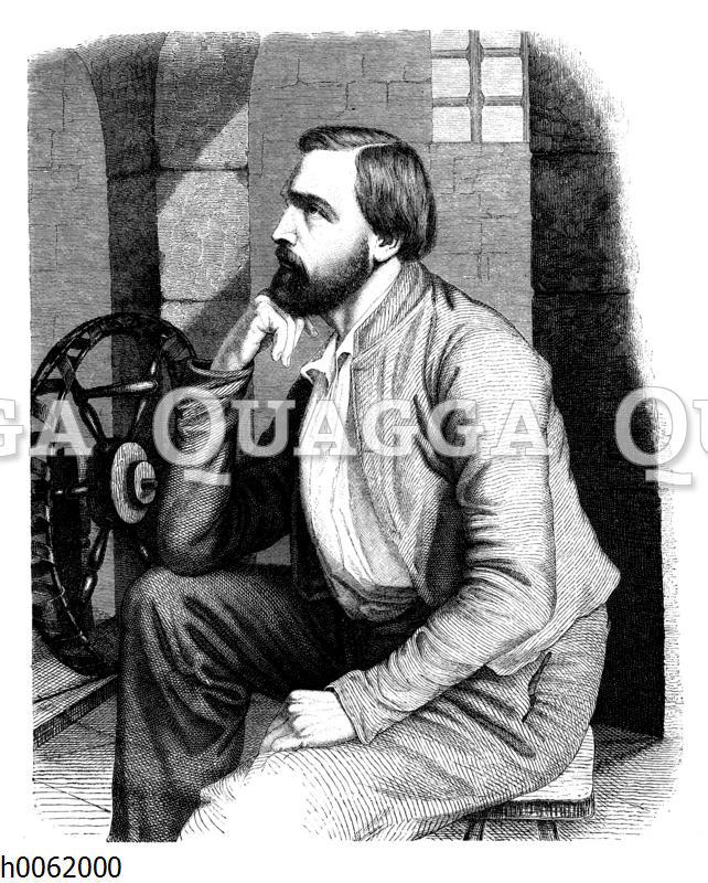 Gottfried Kinkel als Gefangener in Naugard