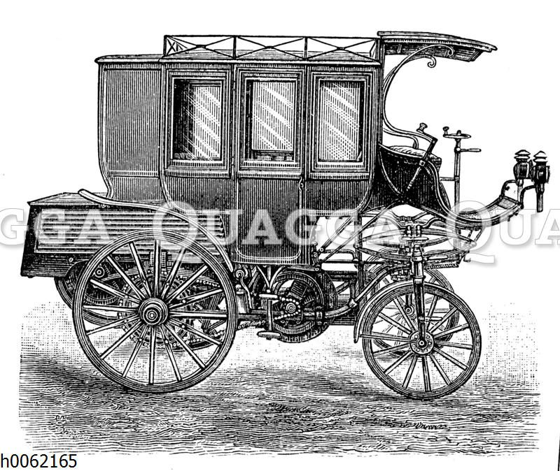 Petroleummotorwagen als Postkutsche
