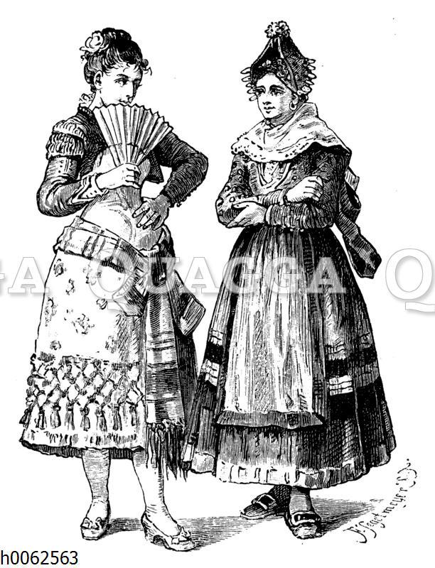 Andalusierin und Segovianerin