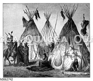 Dorf der Cheyenne-Indianer