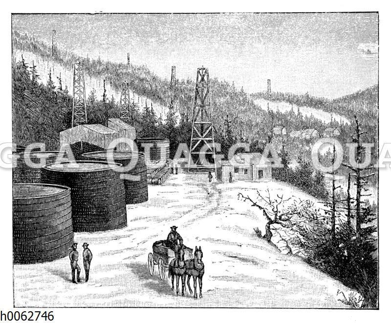 Petroleumgewinnung in Pennsylvanien