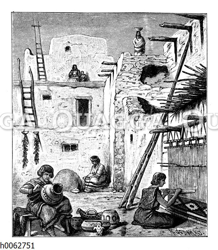 Wohnungen der Zuni in Neumexiko