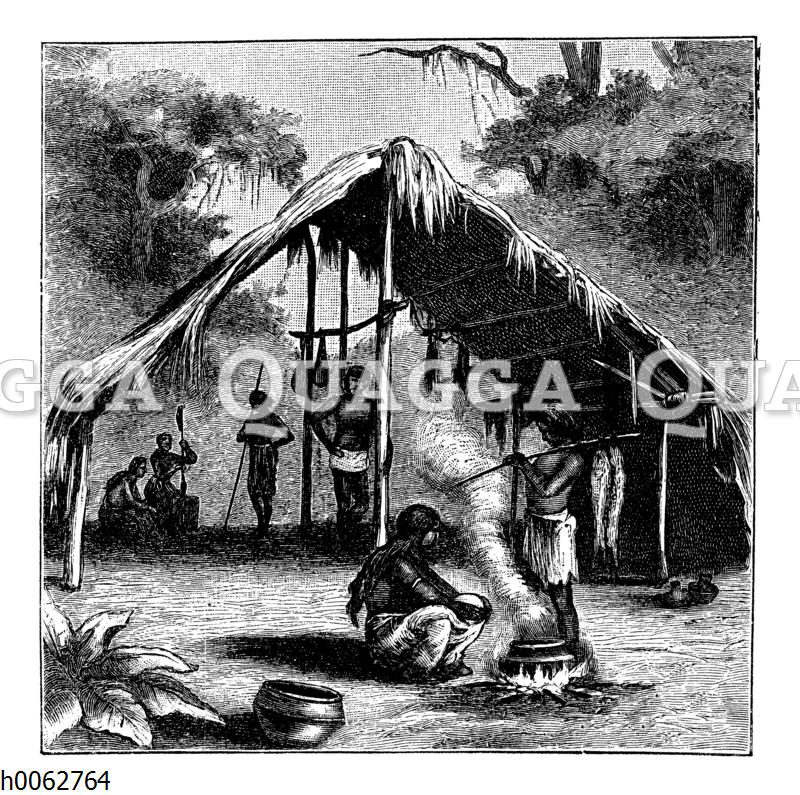 Hütte am Amazonas