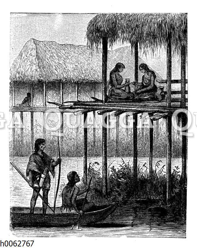 Pfahlbauten in Guayana
