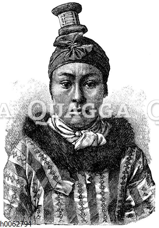 Eskimosfrau von Unalaschka