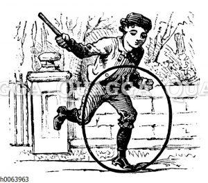 Junge mit Reifen