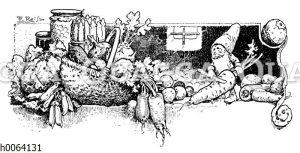 Kochbuchvignette: Gemüse